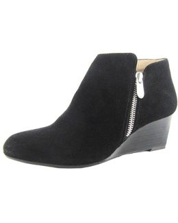Meriel Leather Wedge Ankle Boots