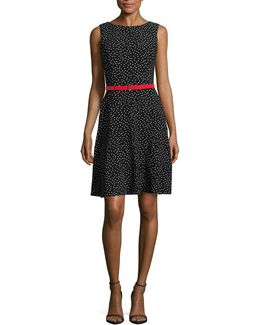 Dotted A-line Dress