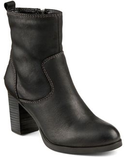 Dasher Grace Leather Ankle Boots