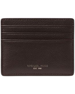 Bryant Pebbled Leather Tall Card Case