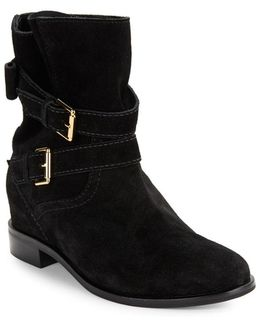 Sabina Double-strap Suede Ankle Boots