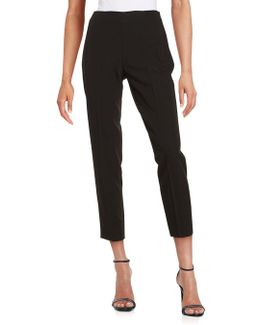 Flat Front Cropped Trousers