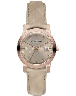 Rose Goldtone Quartz Stainless Steel Watch