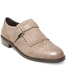 Ice Wingtip Toe Leather Shoes