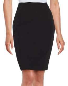 Back Vent Accented Pencil Skirt