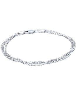 Sterling Silver Ball-bar Chain Bracelet