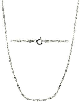 Twisted Sterling Silver Chain Necklace/18""