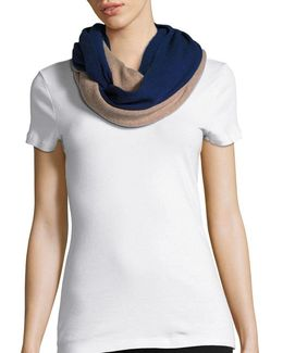 Colorblocked Cashmere Scarf