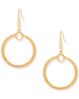 Textured Open Circle Earrings