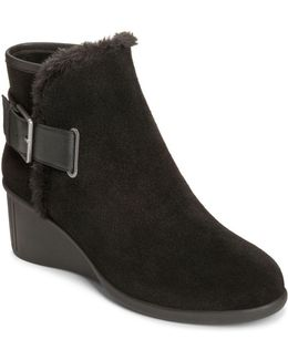 Gravel Suede Ankle Boots