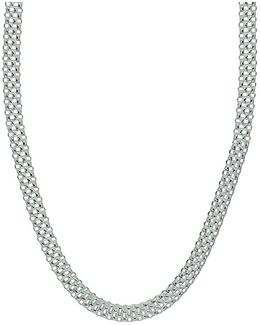 Cutout Sterling Silver Necklace