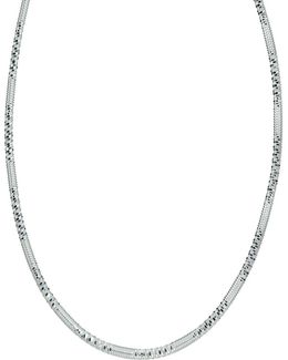 Screw-edged Sterling Silver Necklace