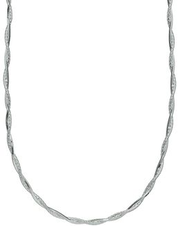 Twist Sterling Silver Chain Necklace/18""
