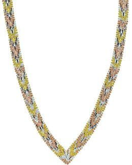"""Three-tone Sterling Silver Necklace/16"""""""