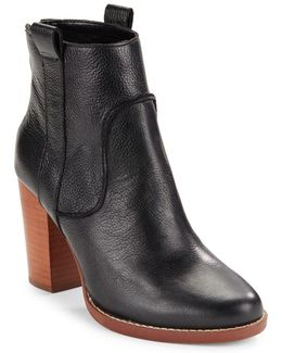 Avabba Textured Leather Boots