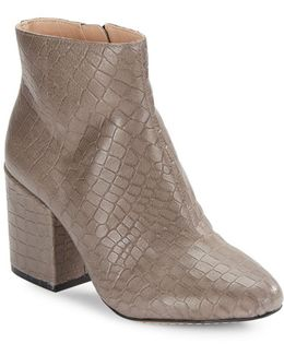 Dilyla Embossed Leather Ankle Boots