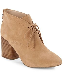 Dinah Suede Ankle Booties