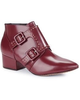 Roree Monk Strap Leather Booties