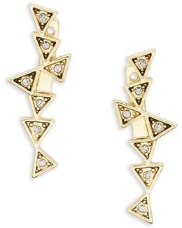 Astrea Geometric Postback Drop Earrings