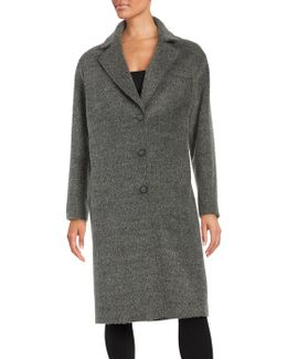 Long Sleeve Textured Coat