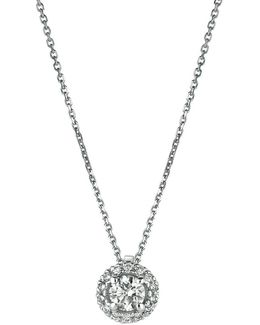 Diamond, 14k White Gold Pendant Necklace