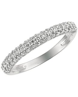 Diamond, 0.5 Tcw And 14k White Gold Ring