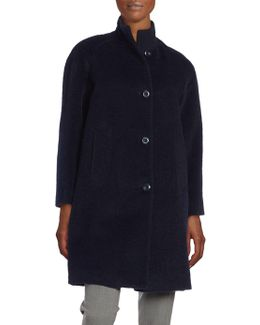 Petite Wool-blend Walker Coat