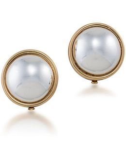 Simulated Pearl And 12k Goldplated Clip-on Earrings