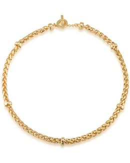 12k Goldplated Braided Necklace