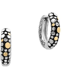 0.02 Tcw Diamonds 18k Yellow Goldplated Hoop Earrings