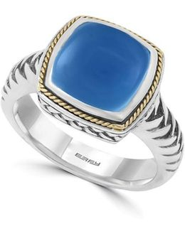 Chalcedony, 18k Goldplated And Sterling Silver Ring