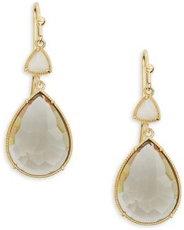 Crystal Teardrop Drop Earrings