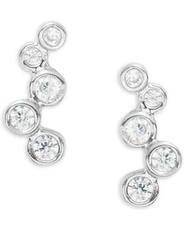 Bubble Pave Stud Earrings