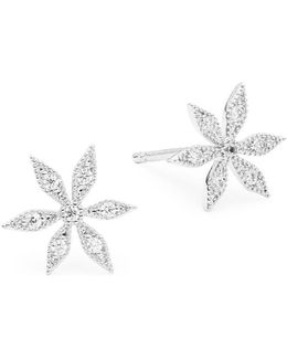 Pave Floral Stud Earrings