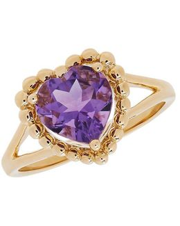 Amethyst And 14k Yellow Gold Ring