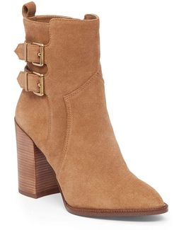 Savanna Buckled Suede Ankle Boots