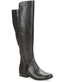 Camme - Wide Calf Leather Boots