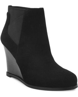 Cora Suede Wedge Ankle Boots