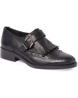 Gospel Leather Monk Brogue Shoes