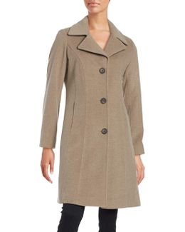 Wool And Cashmere-blend Walker Coat
