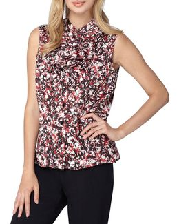 Plus Ruffle Front Sleeveless Top