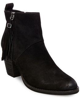 Beti Tassel Leather Booties