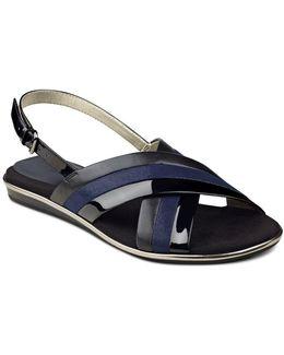 Galea Multi-tonal Slingback Sandals