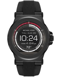 Access Dylan Black Stainless Steel & Silicone Strap Smartwatch