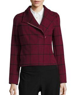 Windowpane Asymmetrical Jacket