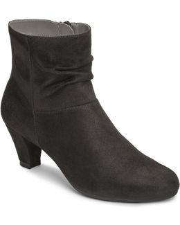 Shore Fit Faux Suede Ruched Boots