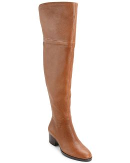 Dallyce Leather Over-the-knee Boots