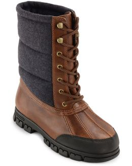 Quinlyn Leather Mid-calf Boots