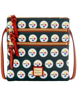 Steelers Triple Zip Crossbody Bag