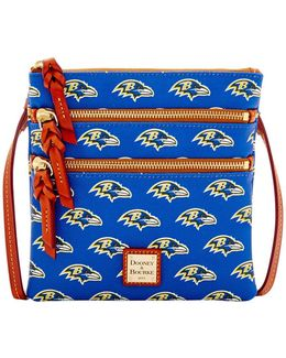 Ravens Triple Zip Crossbody Bag